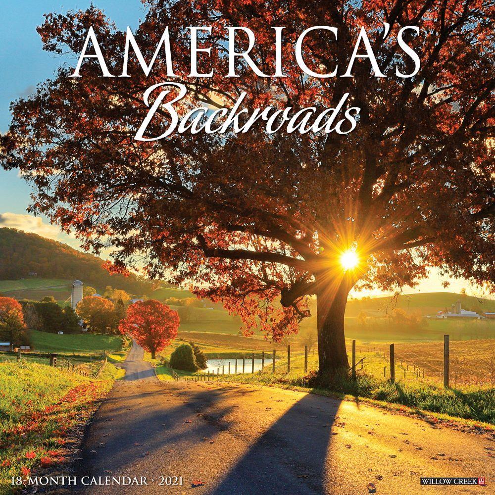 2021 American Backroads Wall Calendar