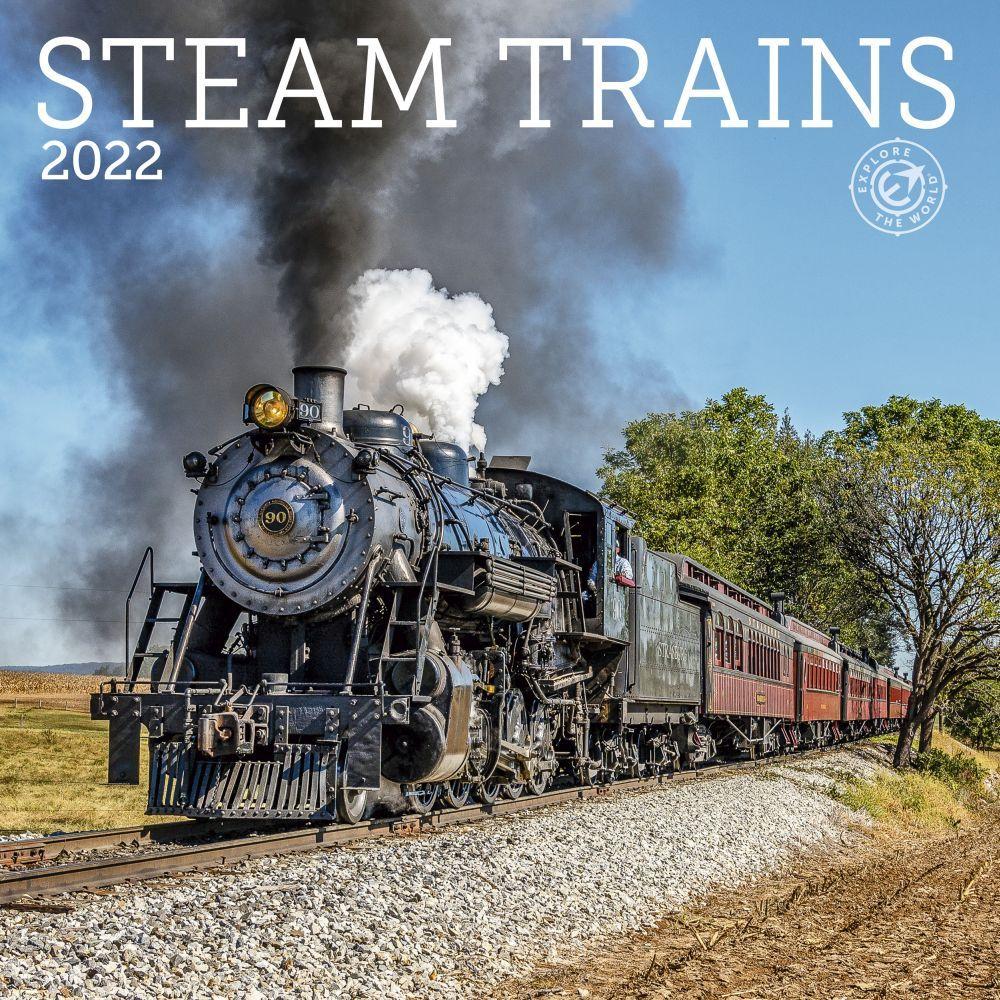 Steam Trains 2022 Wall Calendar