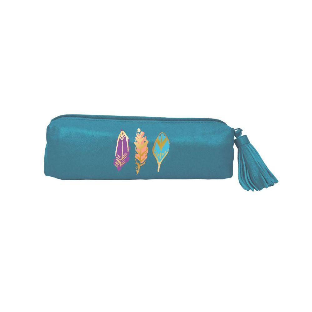 Barbarian-Brilliant-Feathers-(Teal)-Accessory-Pouch-1