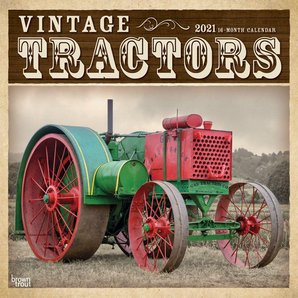 2021 Tractors Vintage Wall Calendar