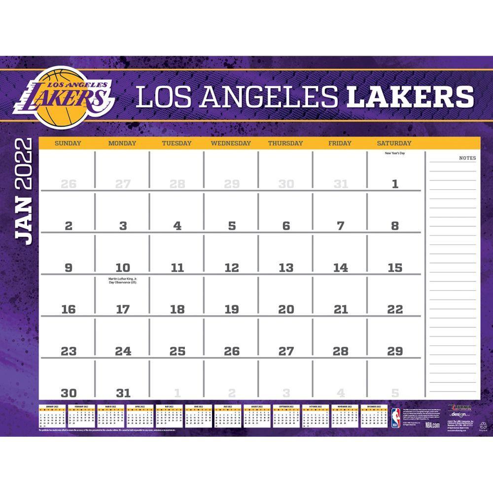 Los Angeles Lakers 2022 Desk Pad