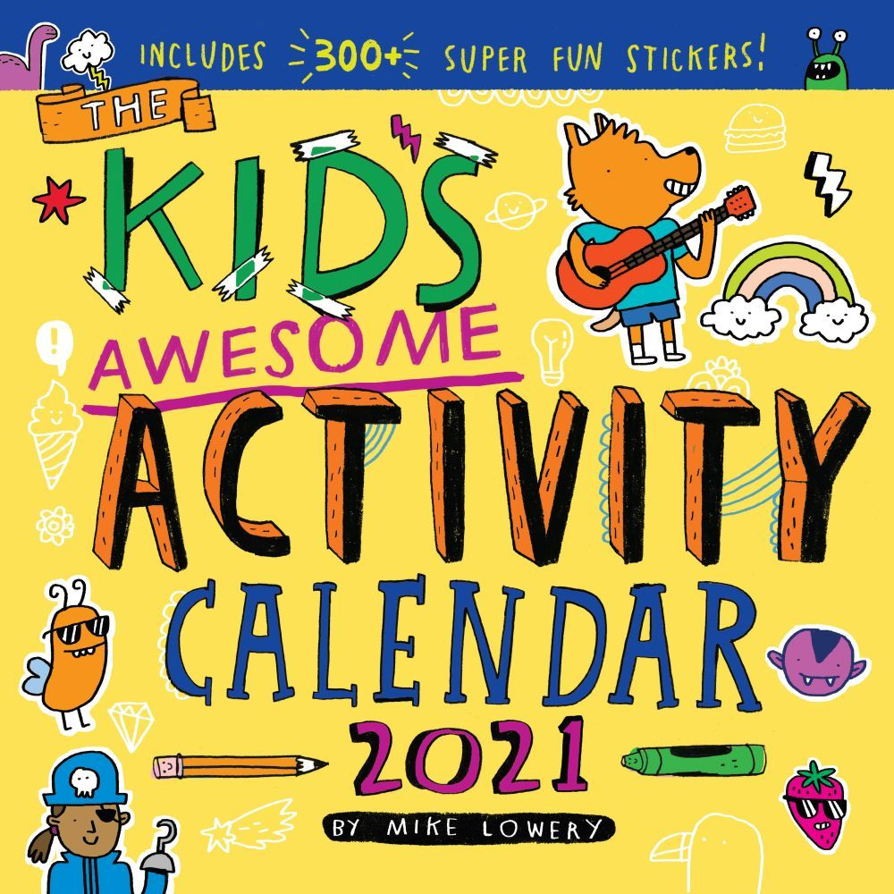 Kids Awesome Activity 2021 Wall Calendar