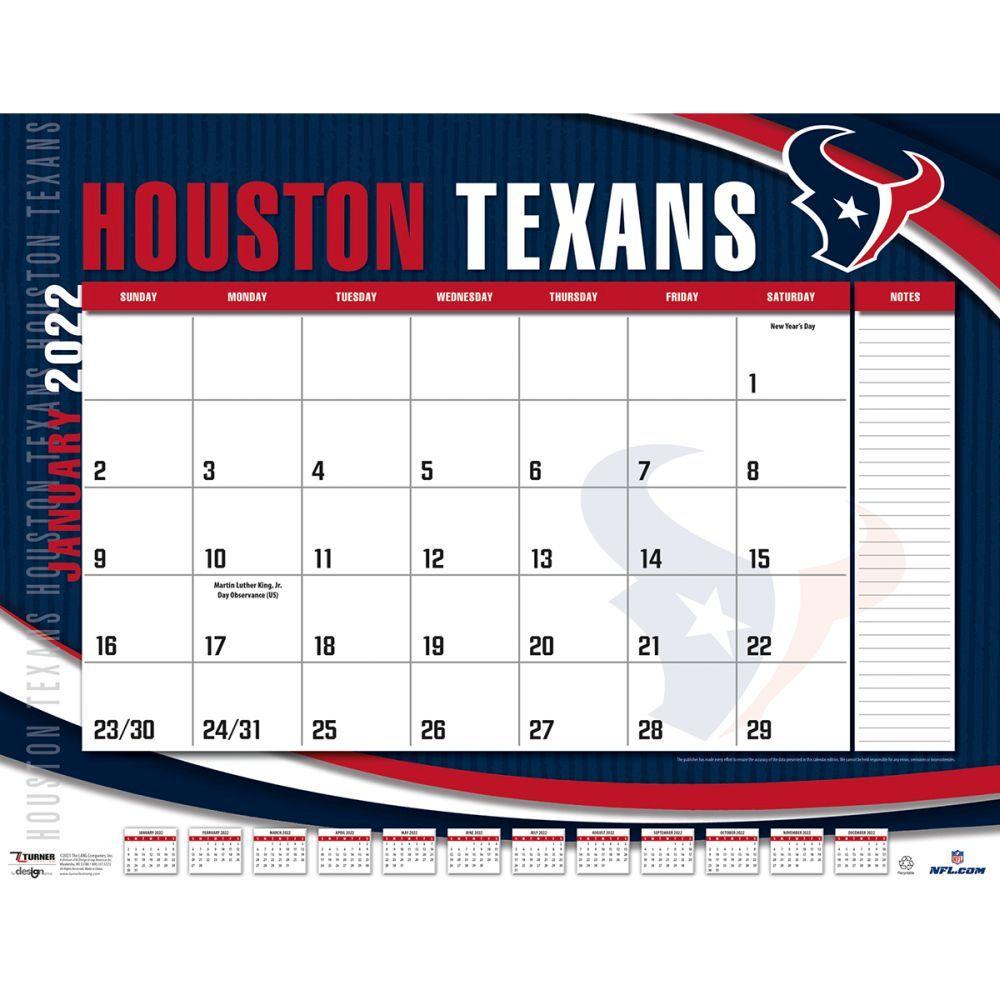 Houston Texans 2022 Desk Pad