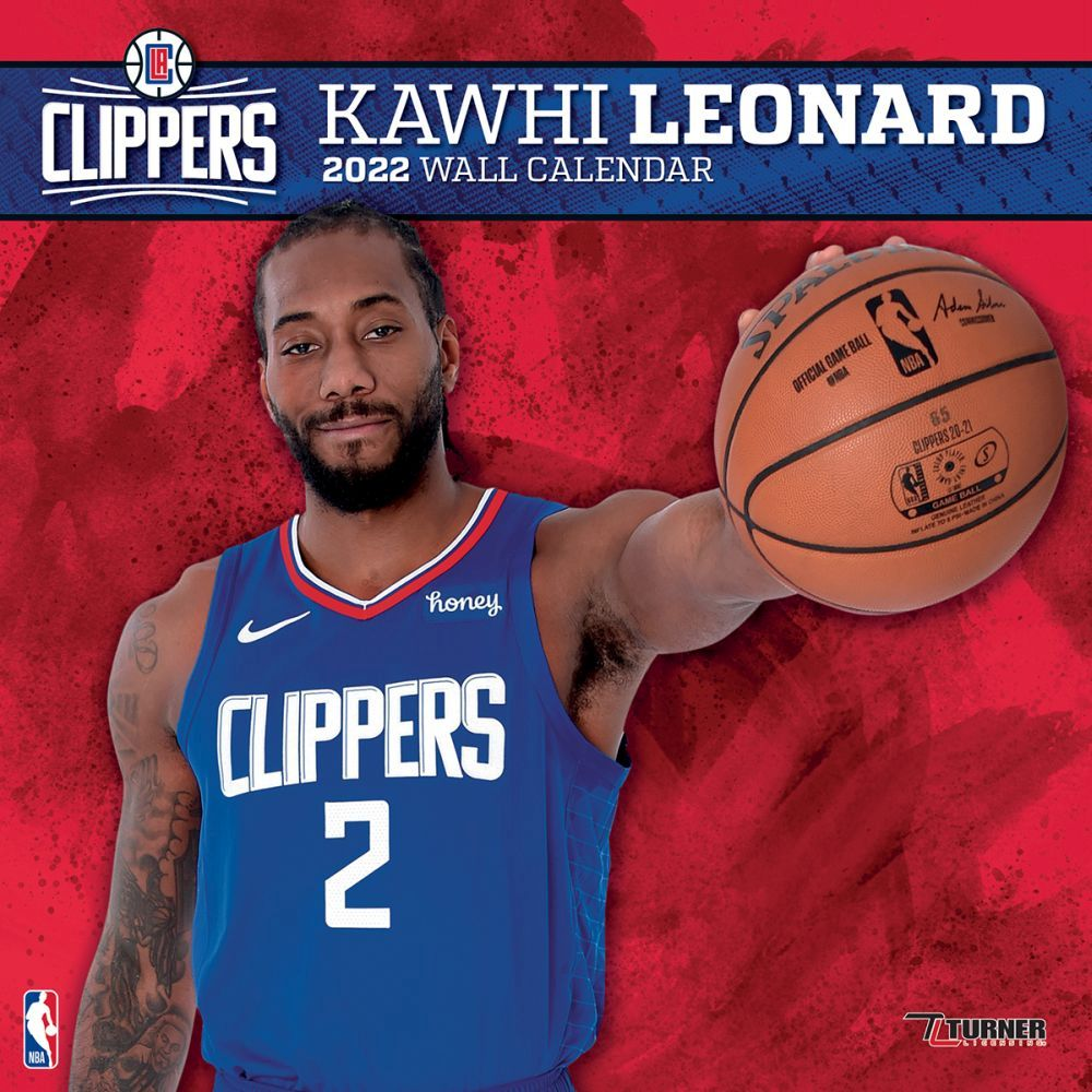 Los Angeles Clippers Kawhi Leonard 2022 Wall Calendar