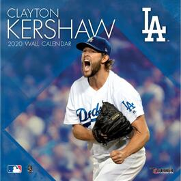 Los Angeles Dodgers Clayton Kershaw Player Wall Calendar