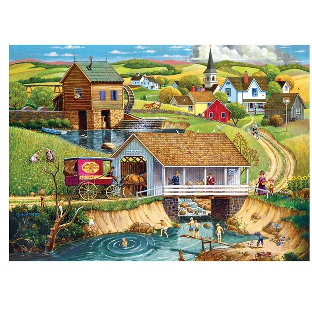 Hometown Last Swim of Summer 1000pc Puzzle-2