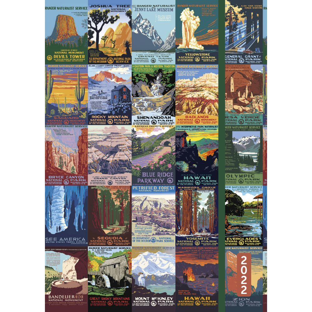 National Parks Poster Art of The WPAs 2022 Weekly Planner Flexi Cover