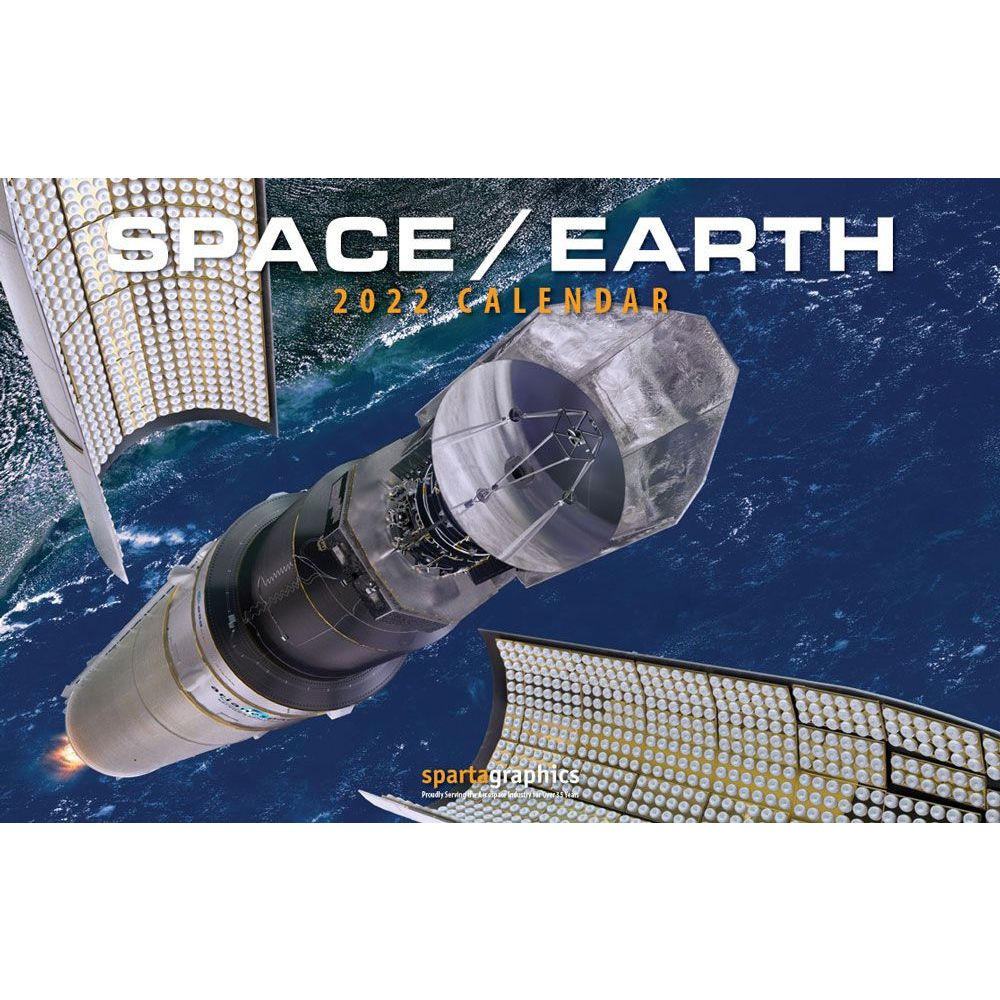 Space Earth 2022 Deluxe Wall Calendar