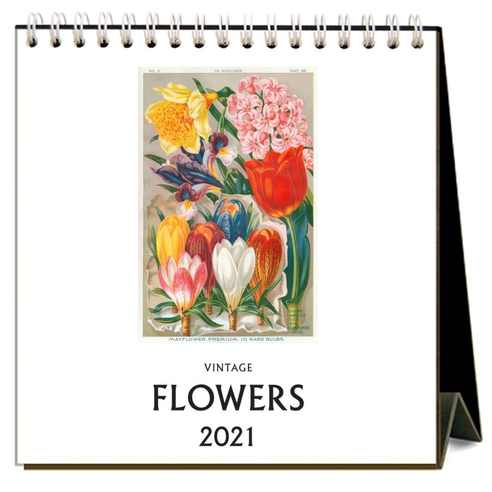 Flowers Nostalgic 2021 Easel Calendar
