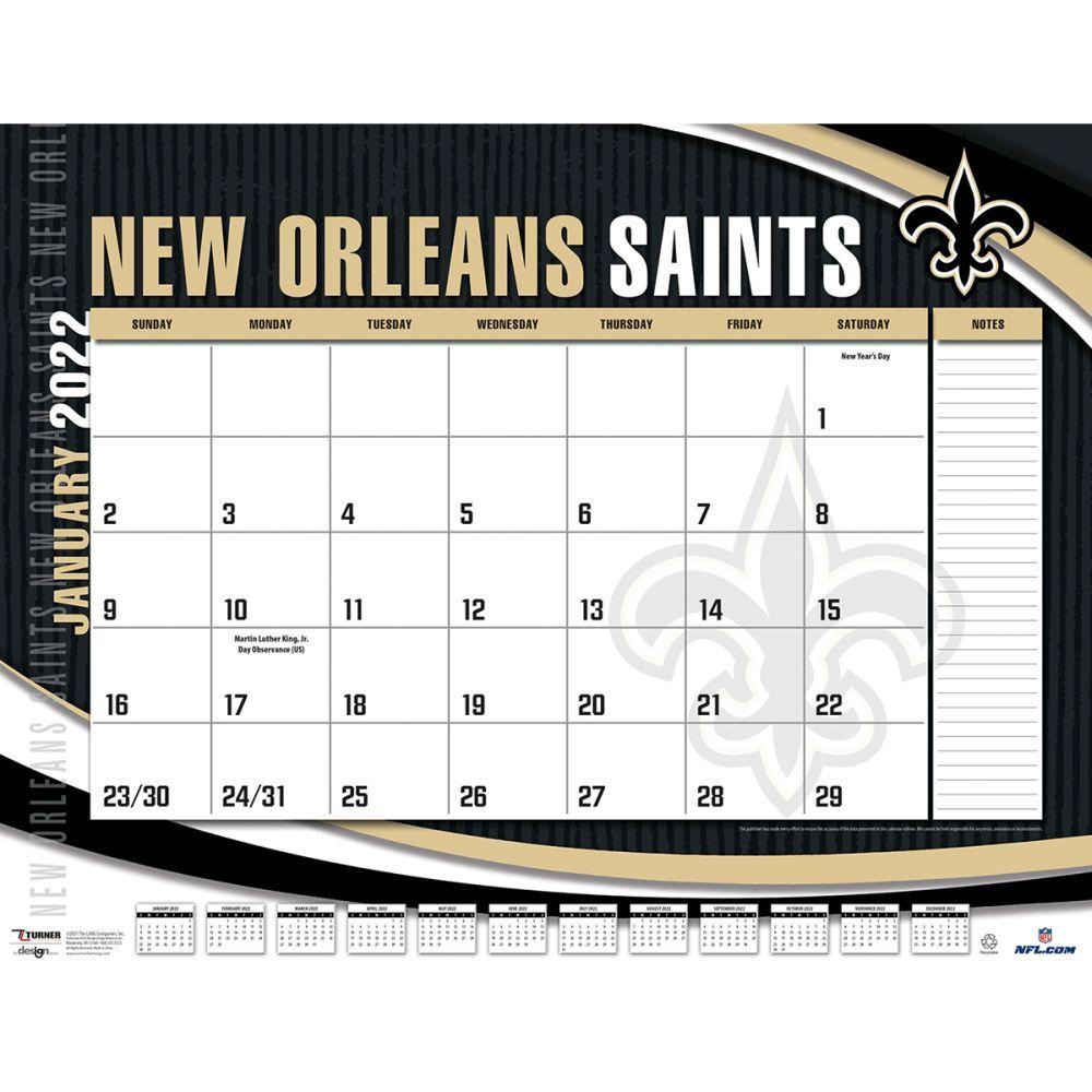 New Orleans Saints 2022 Desk Pad