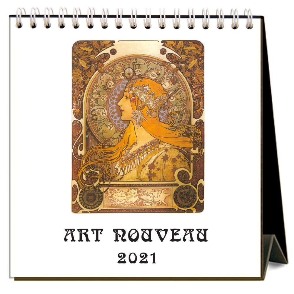 2021 Art Nouveau Easel Calendar