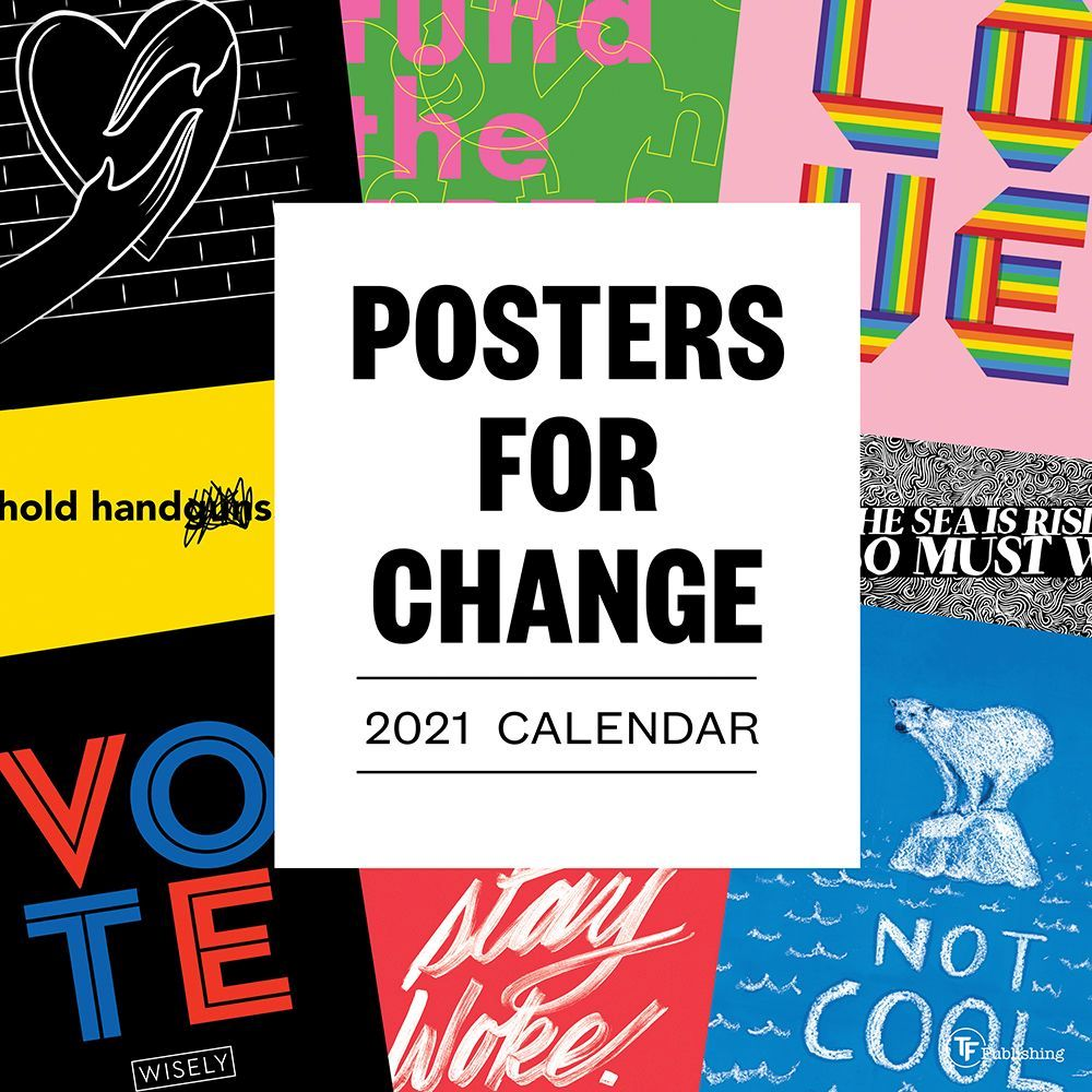 2021 Posters for Change Wall Calendar