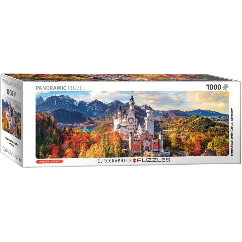 Neuschwanstein-Castle-Fall-1000pc-Panoramic-Puzzle-1