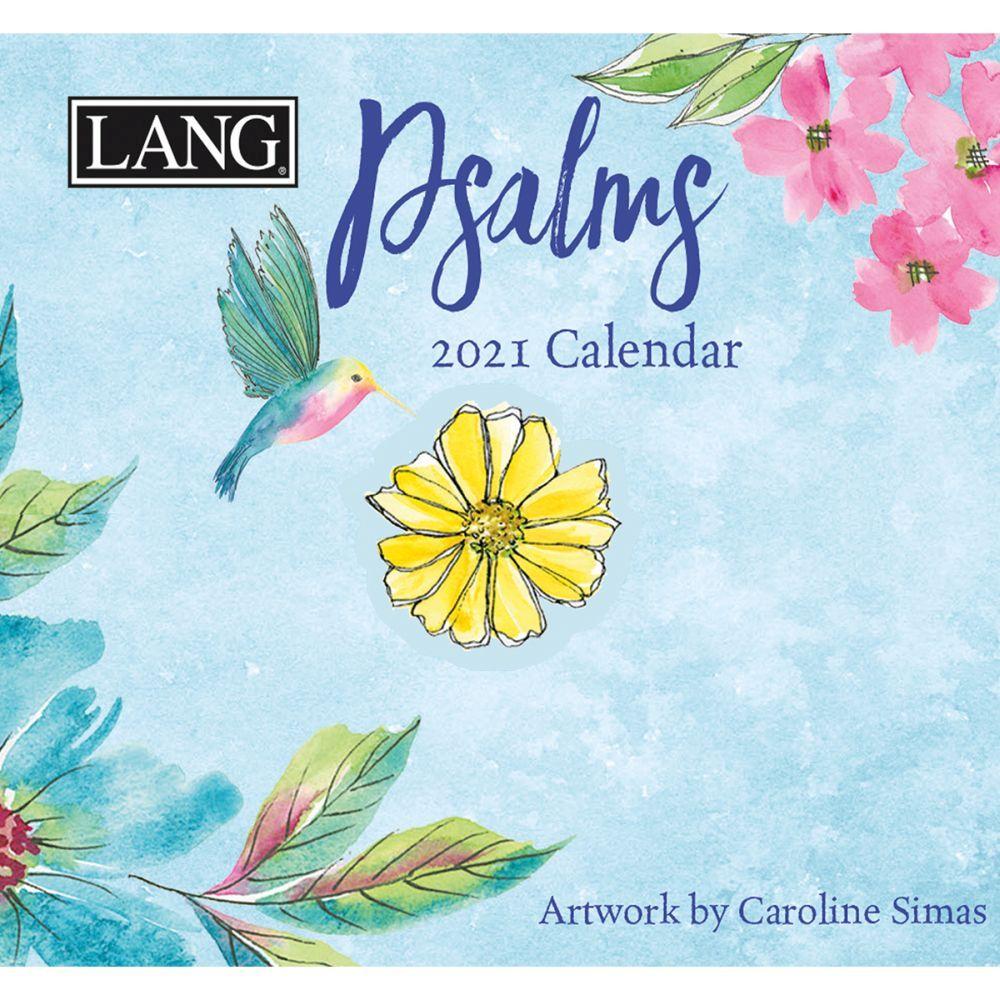 2021 Psalms 365 Daily Thoughts Desk Calendar by Caroline Simas