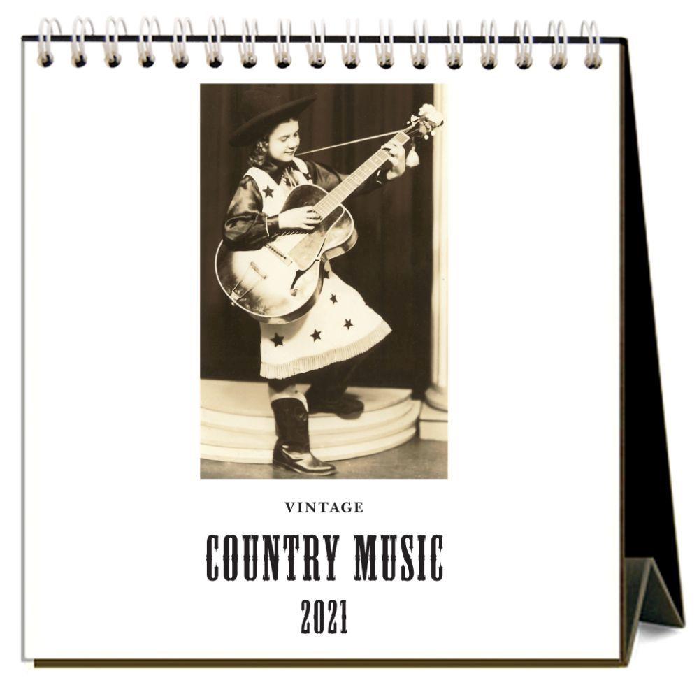 2021 Country Music Nostalgic Easel Calendar