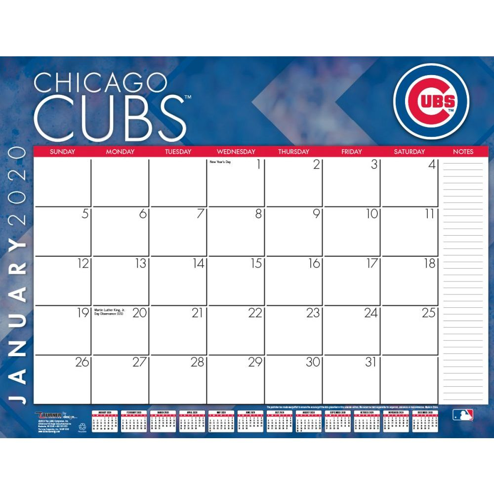 Chicago Cubs 2021 Desk Pad