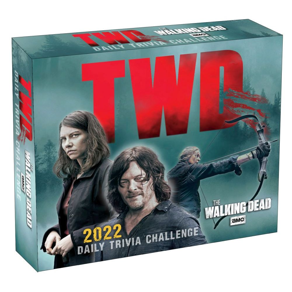 Walking Dead Trivia 2022 Desk Calendar