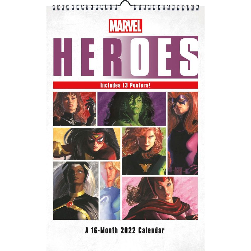 Marvel HERoes 2022 Poster Wall Calendar