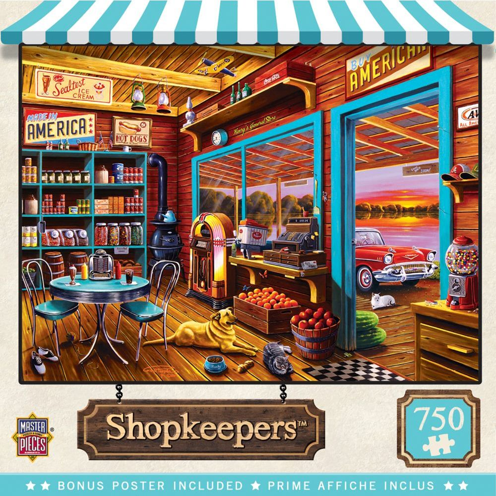 Best Henrys General Store 750pc Puzzle You Can Buy