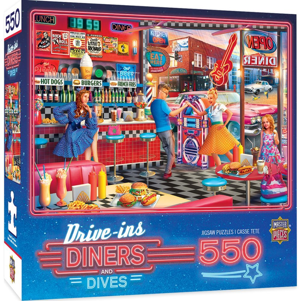 Best Diner 550pc Puzzle You Can Buy