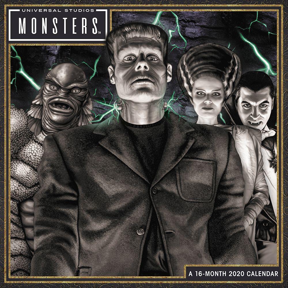 Classic Monsters 2021 Wall Calendar