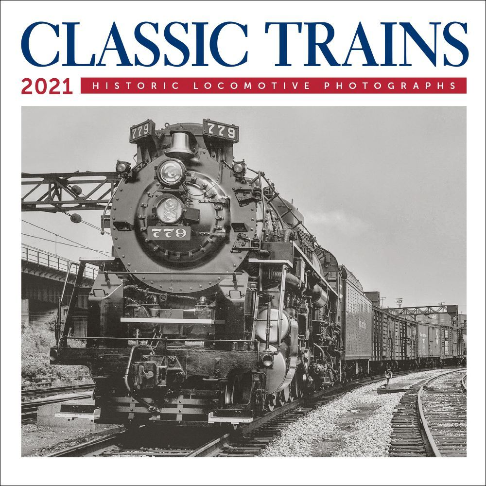 2021 Trains Classic Mini Wall Calendar