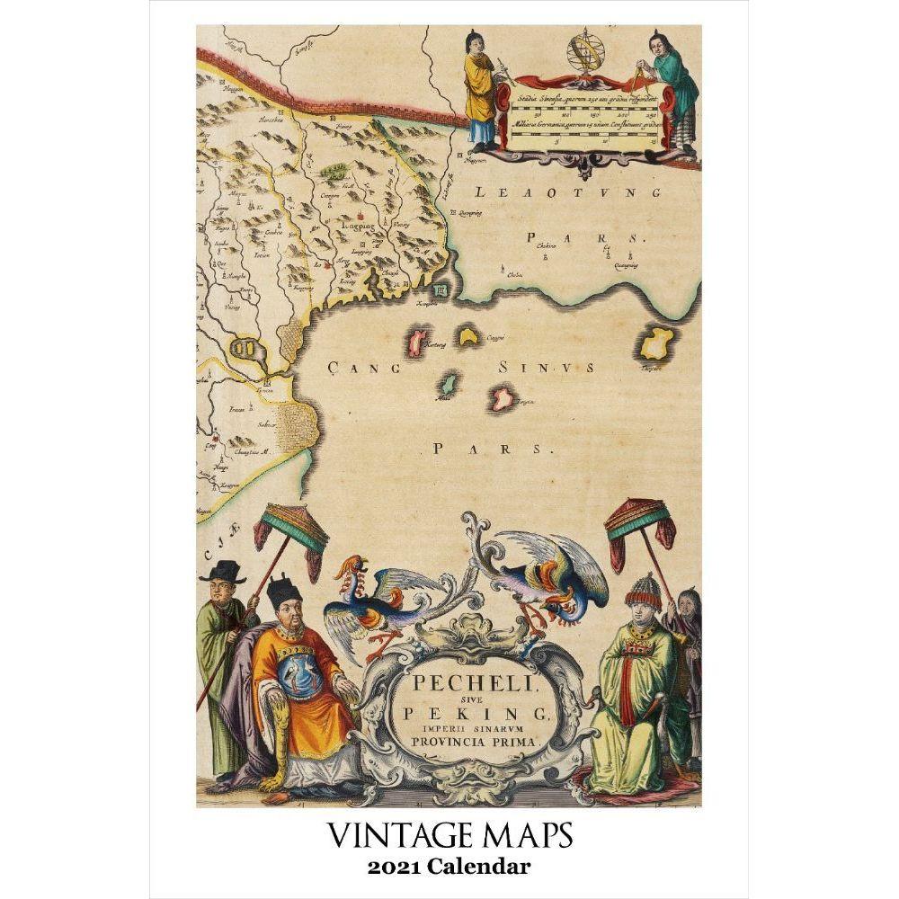 2021 Vintage Maps Poster Wall Calendar