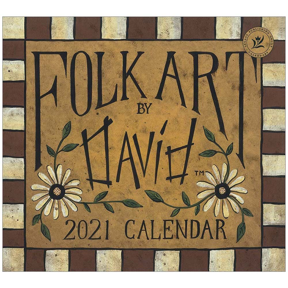 2021 Folk Art by David Special Edition Wall Calendar