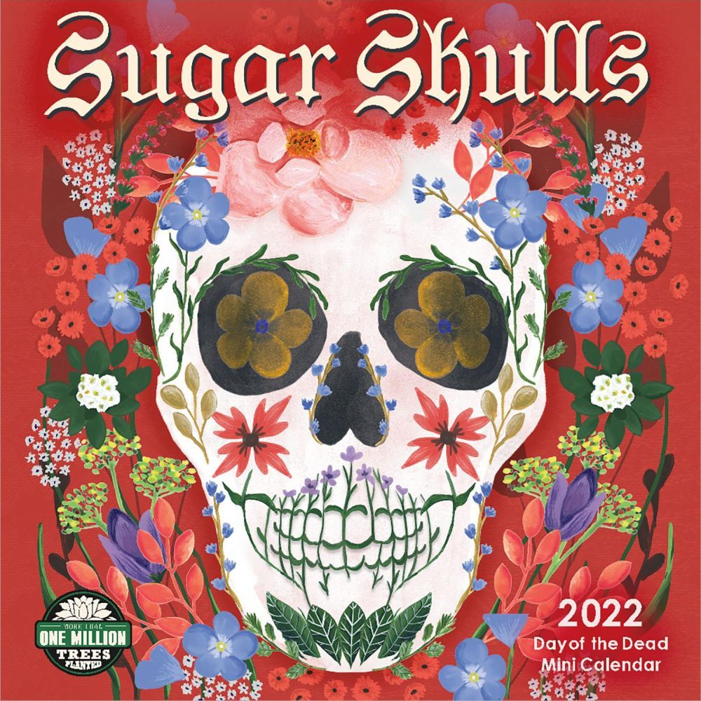 Sugar Skulls 2022 Mini Wall Calendar