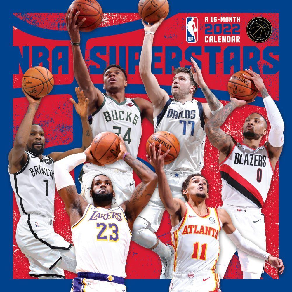 NBA Superstars 2022 Wall Calendar