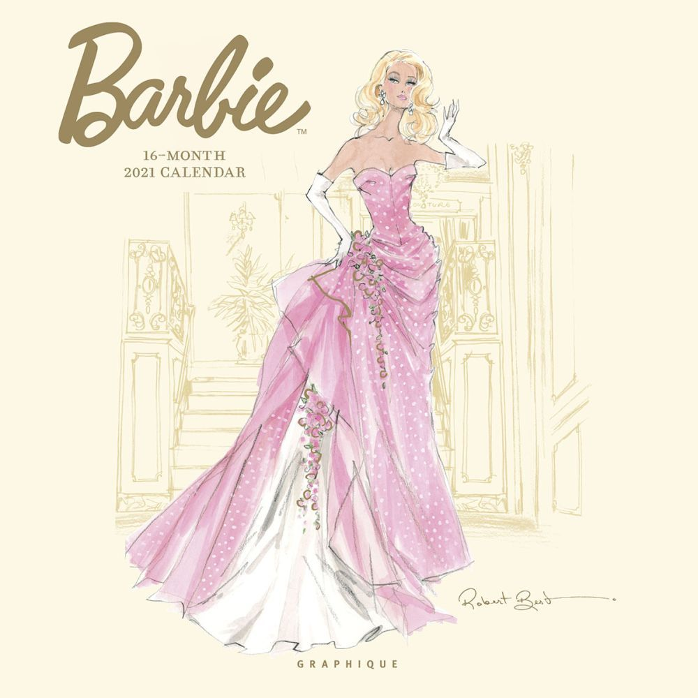 2021 Barbie Fashion Collection Wall Calendar