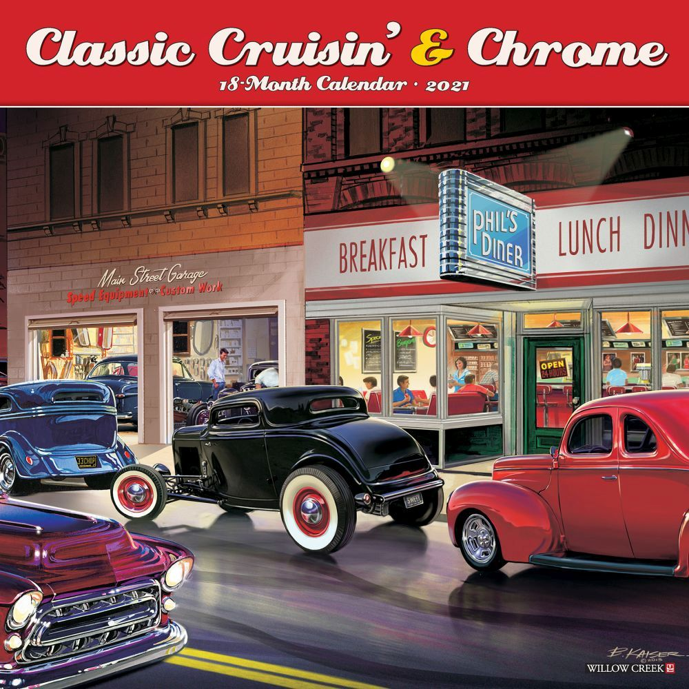 2021 Cruisin and Chrome Wall Calendar