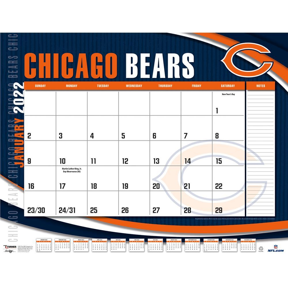 Chicago Bears 2022 Desk Pad