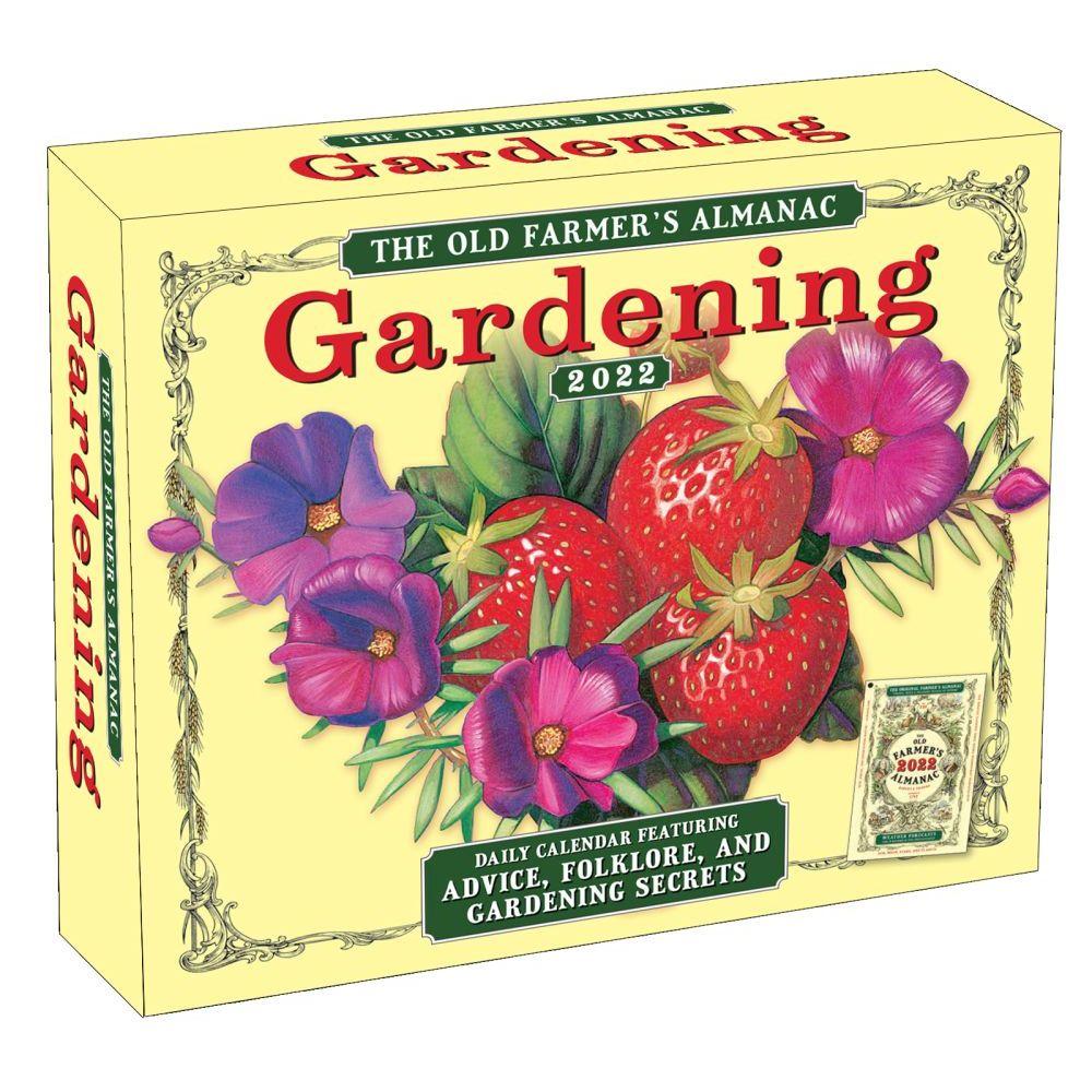 Old Farmer's Almanac Gardening 2022 Desk Calendar