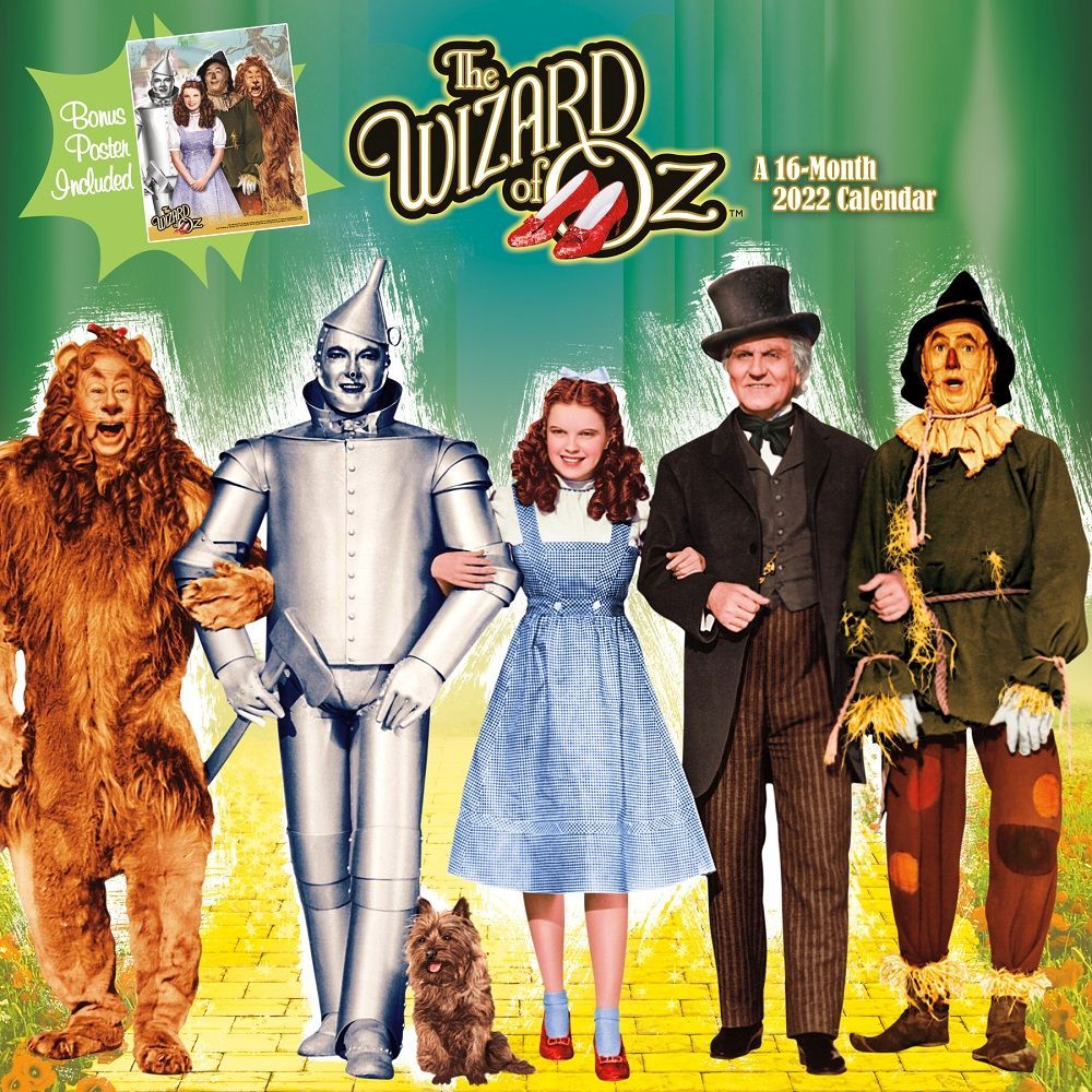 Wizard of Oz 2022 Wall Calendar