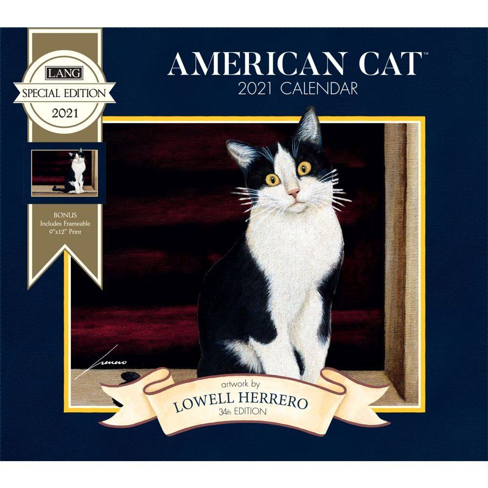 2021 American Cat Special Edition Wall Calendar