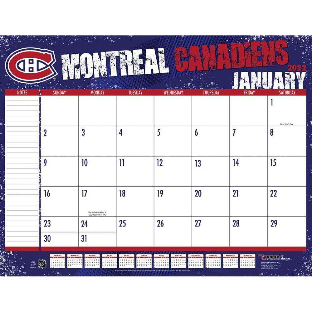 Montreal Canadiens 2022 Desk Pad