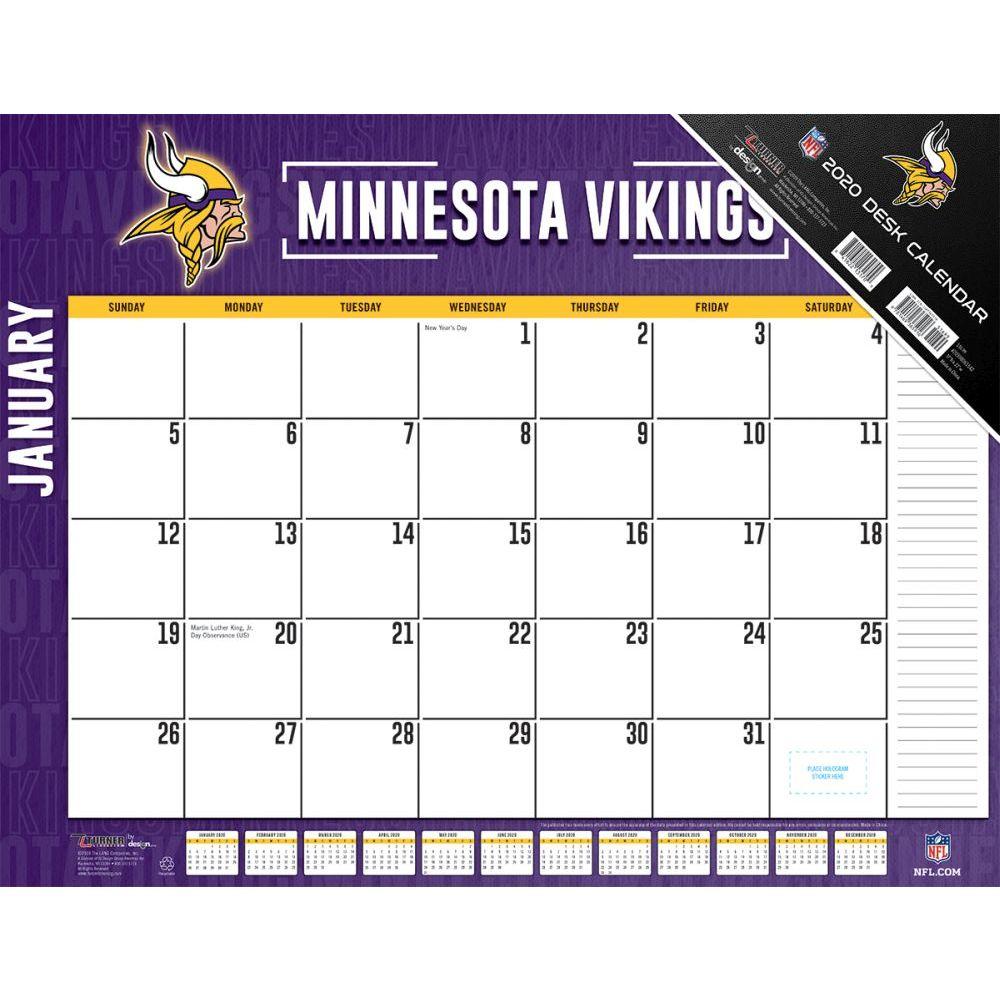 Minnesota Vikings 2021 Desk Pad