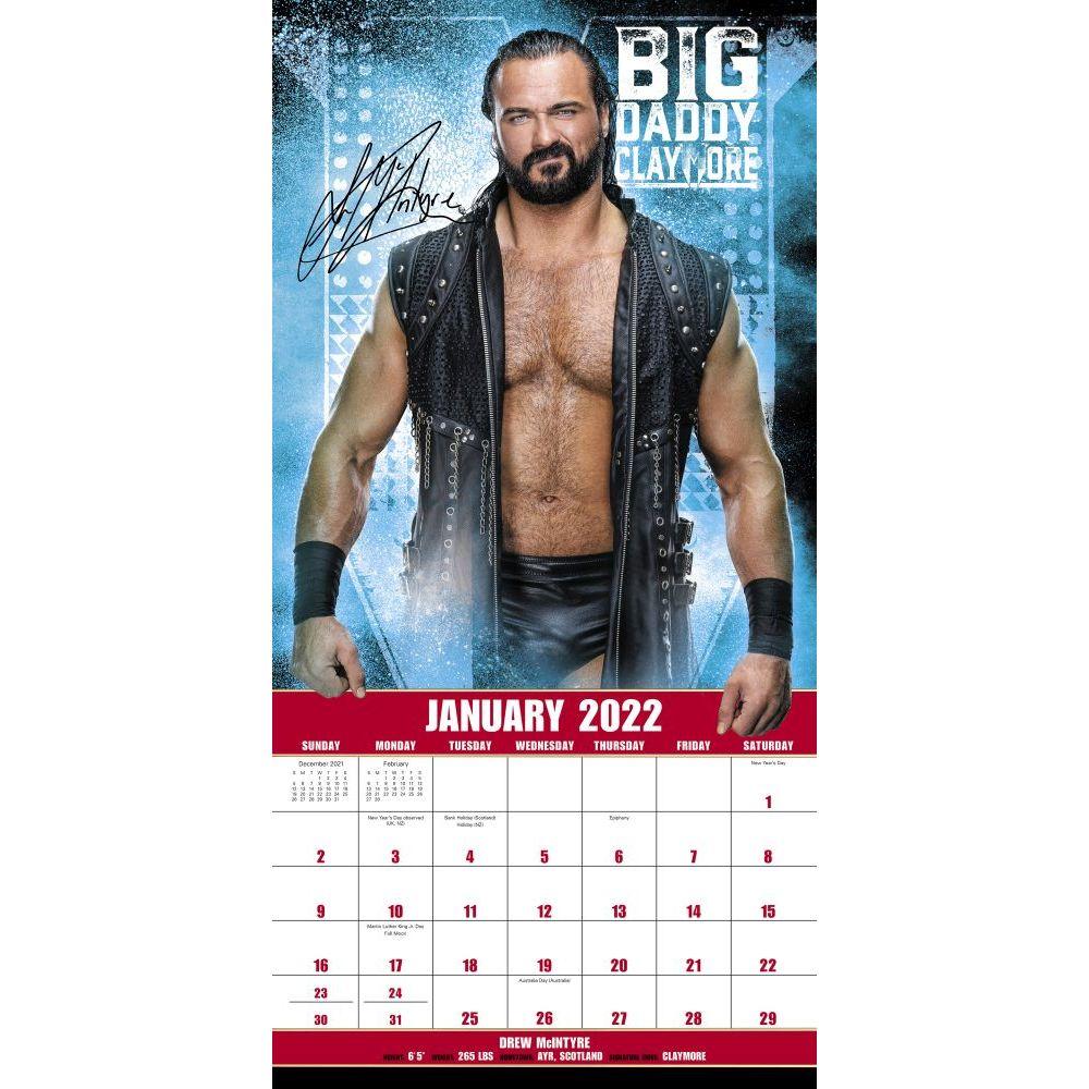 Wwe Calendar 2022.Wwe 2022 Wall Calendar Calendars Com