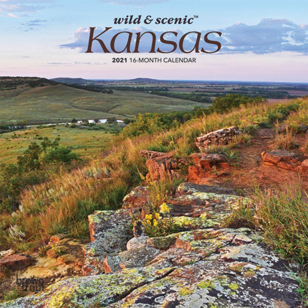 Kansas 2021 Mini Wall Calendar