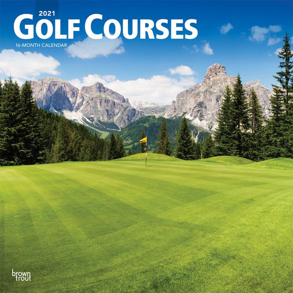 2021 Golf Courses Wall Calendar