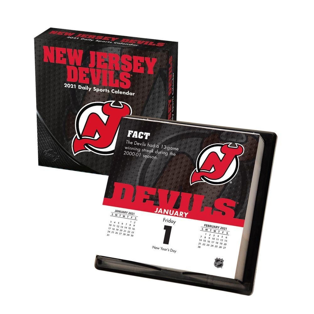 2021 New Jersey Devils Desk Calendar