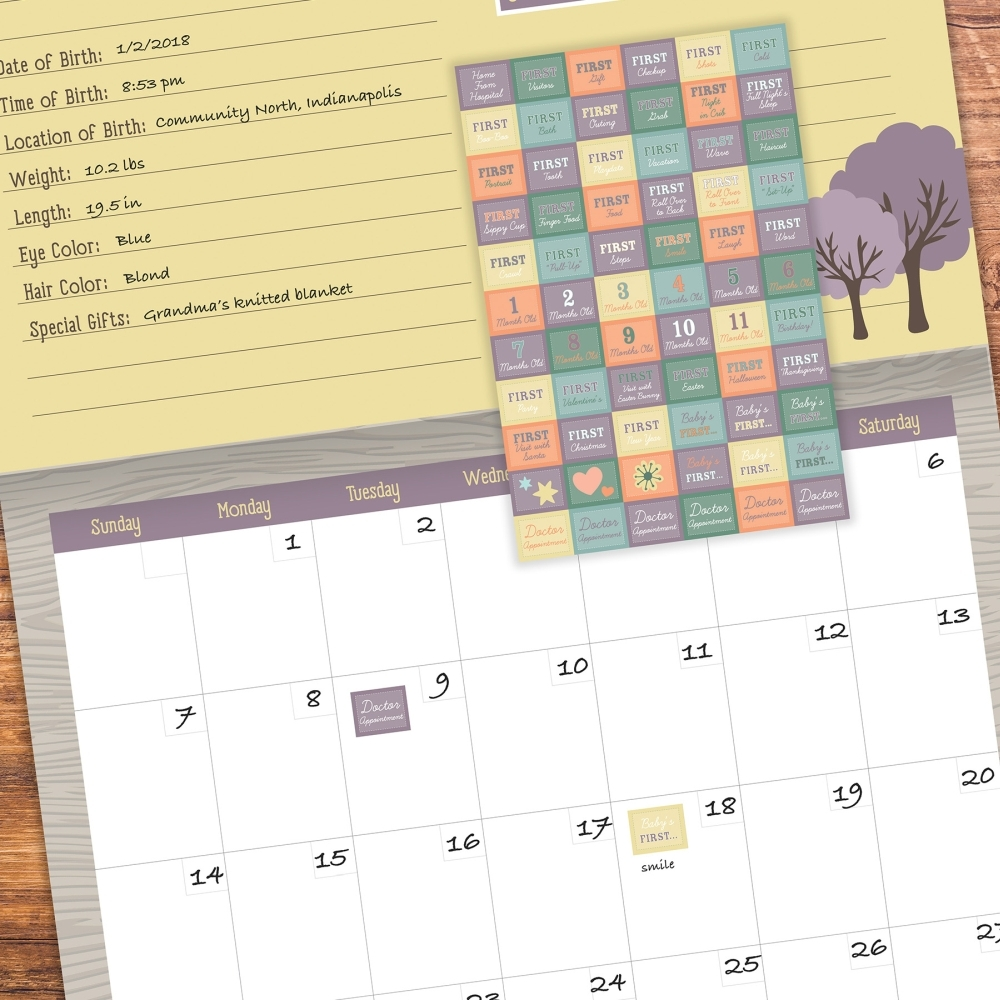Babys-First-year-Woodland-Nondated-Calendar-8