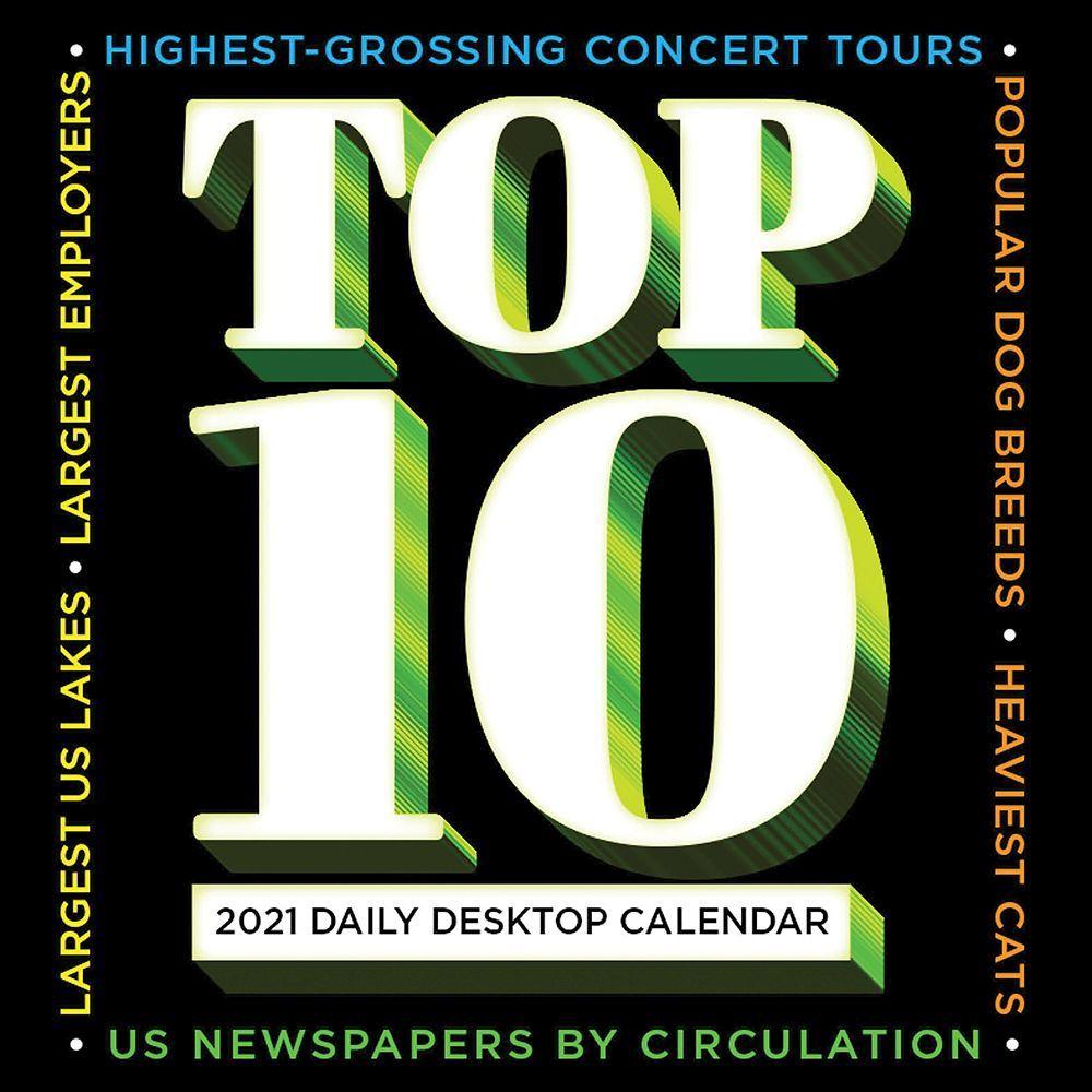 2021 Top 10 Daily Desk Calendar