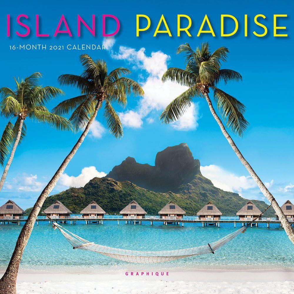 2021 Island Paradise Mini Wall Calendar