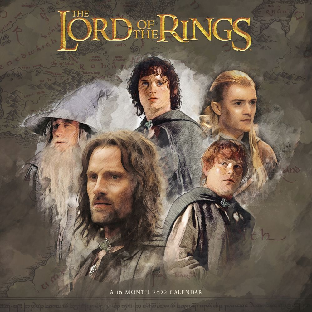 Lord of the Rings 2022 Wall Calendar
