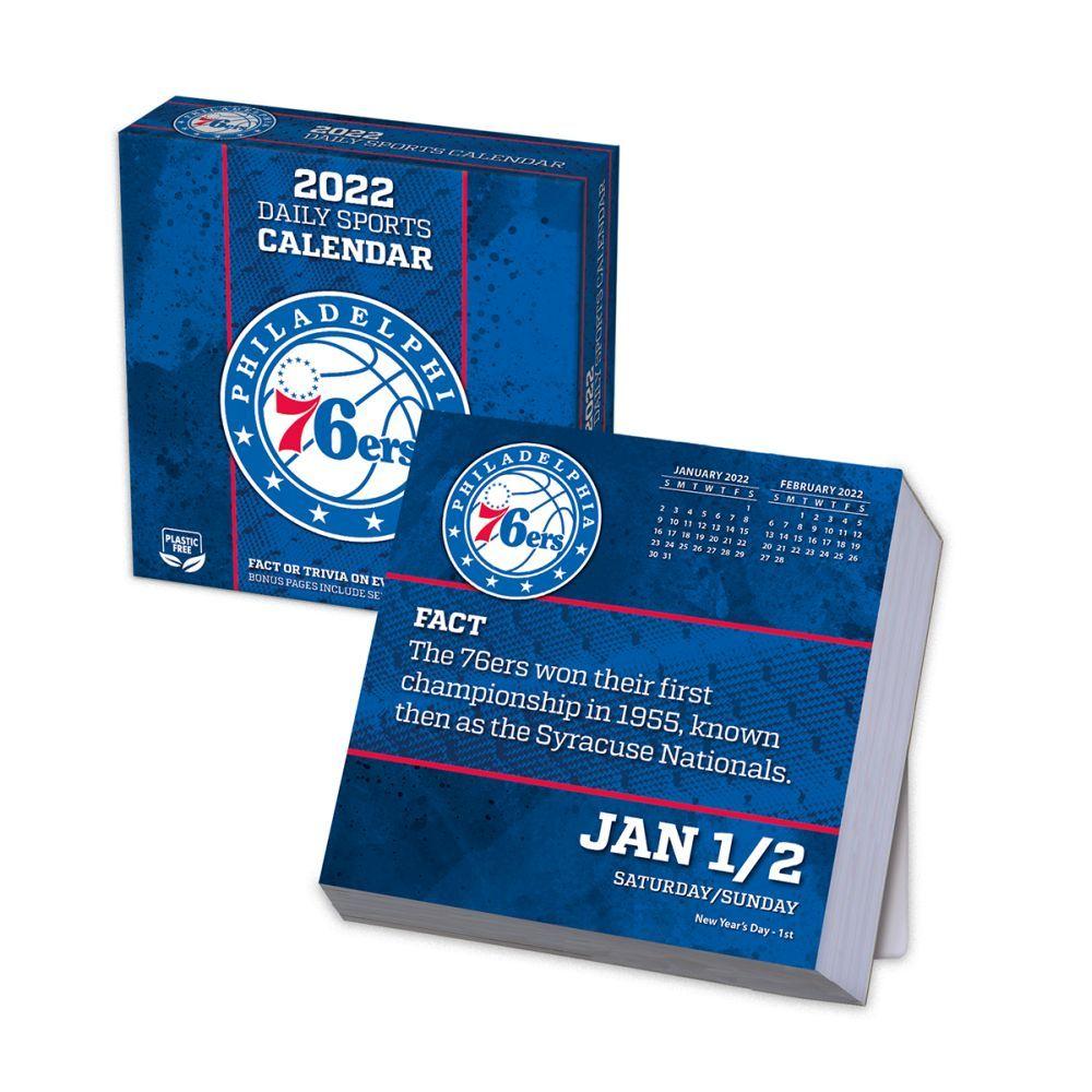Philadelphia 76ers 2022 Desk Calendar