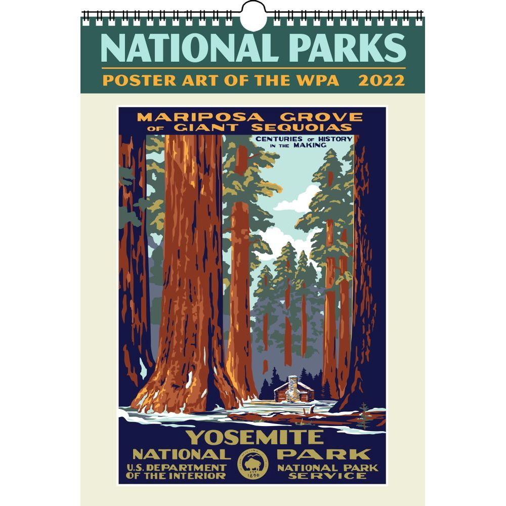 National Parks Poster Art of the WPA 2022 Large Wall Calendar