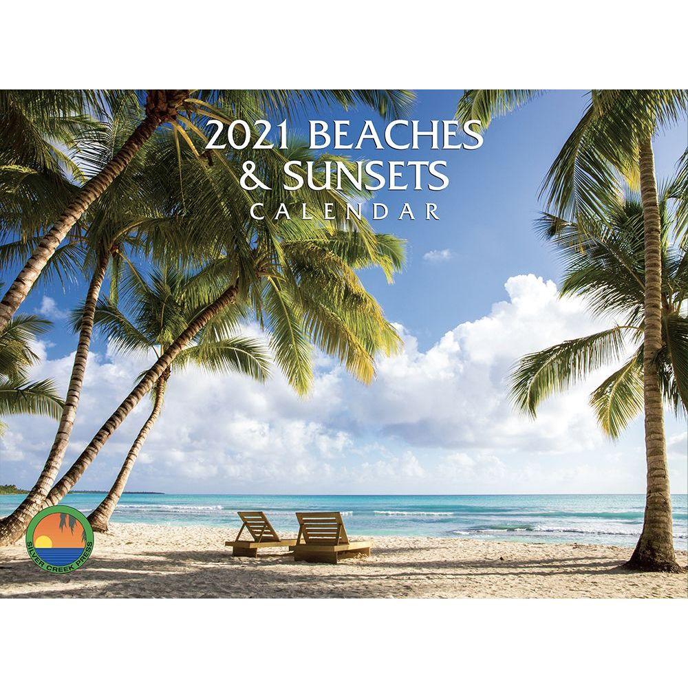 2021 Beaches & Sunsets Wall Calendar