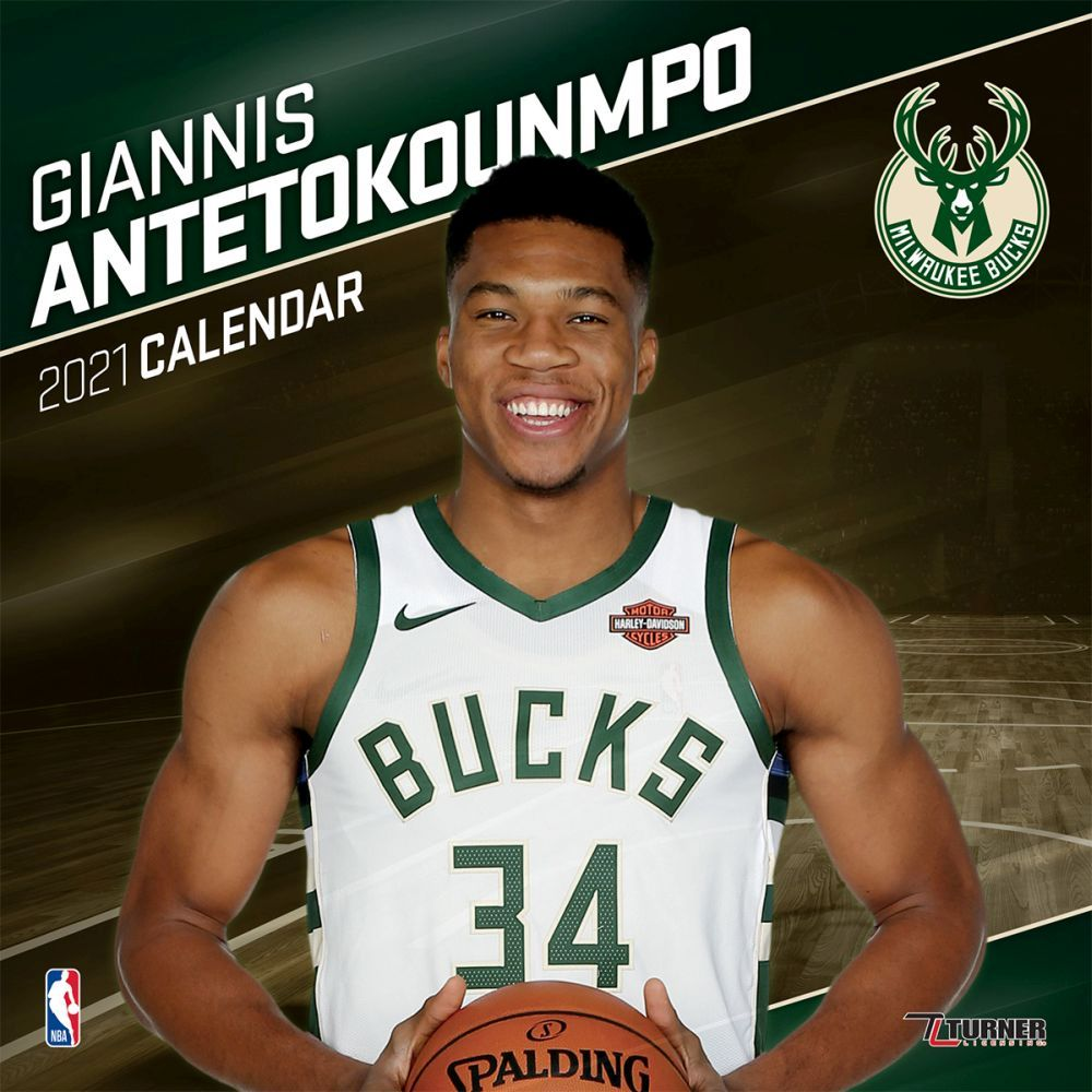 2021 Milwaukee Bucks Giannis Antetokounmpo Player Wall Calendar